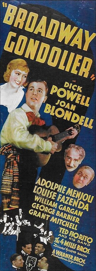 """Broadway Gondolier"". Film från 1935 med Dick Powell och Joan Blondell."