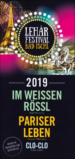 Lehár Festival Bad Ischl 2019. Programpresentation.