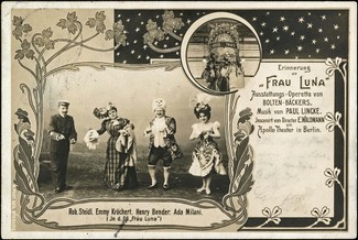 """Frau Luna"" med musik av Paul Lincke (1866-1946), Apollo Theater, Berlin 1899."